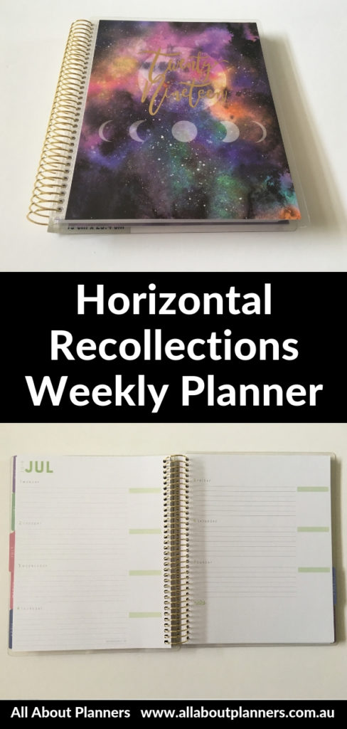 horizontal weekly planner review recollections pros and cons video pastel monday start lined cute coil bound cheap affordable