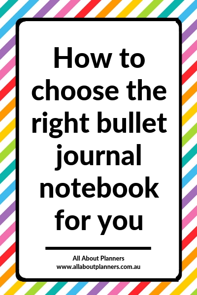 how to choose the right bullet journal notebook for you tips inspiration diy planner addict planning planner life