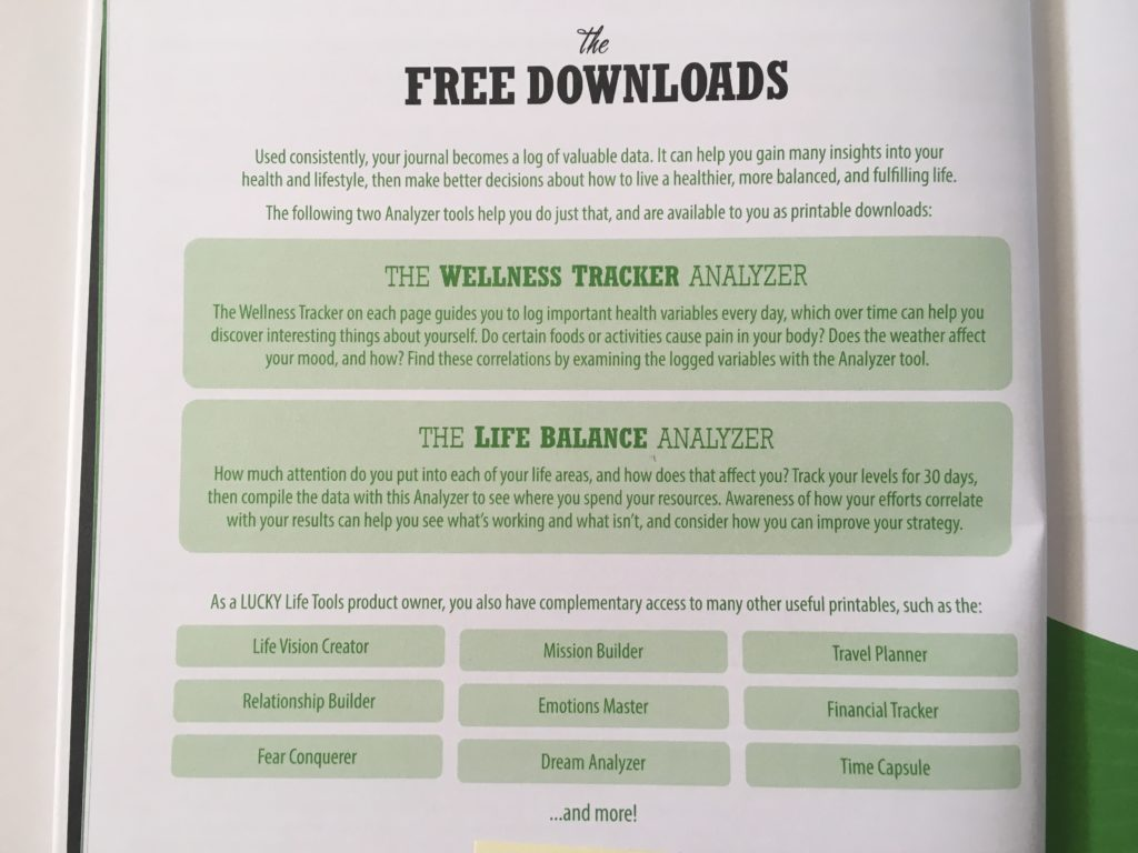 lucky life tools daily wellness planner review