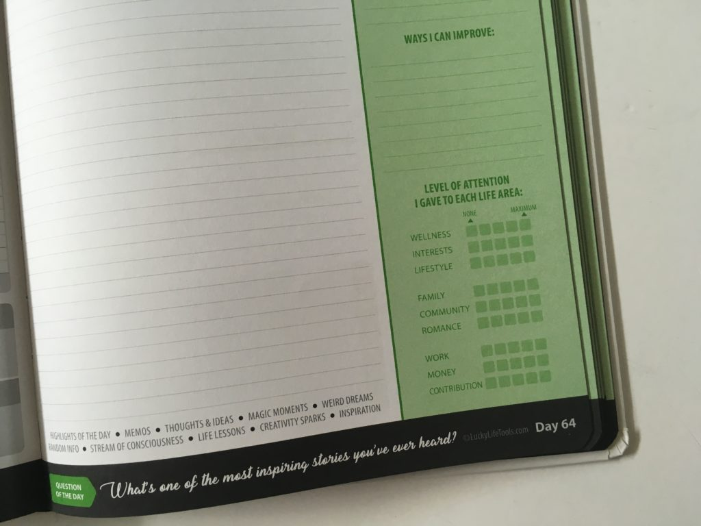 lucky life tools day to a page planner review wellness health hardbound pros and cons video