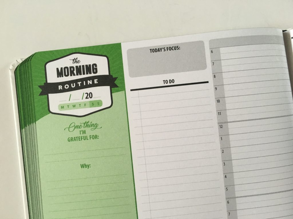lucky life tools day to a page planner review wellness health hardbound pros and cons video morning routine