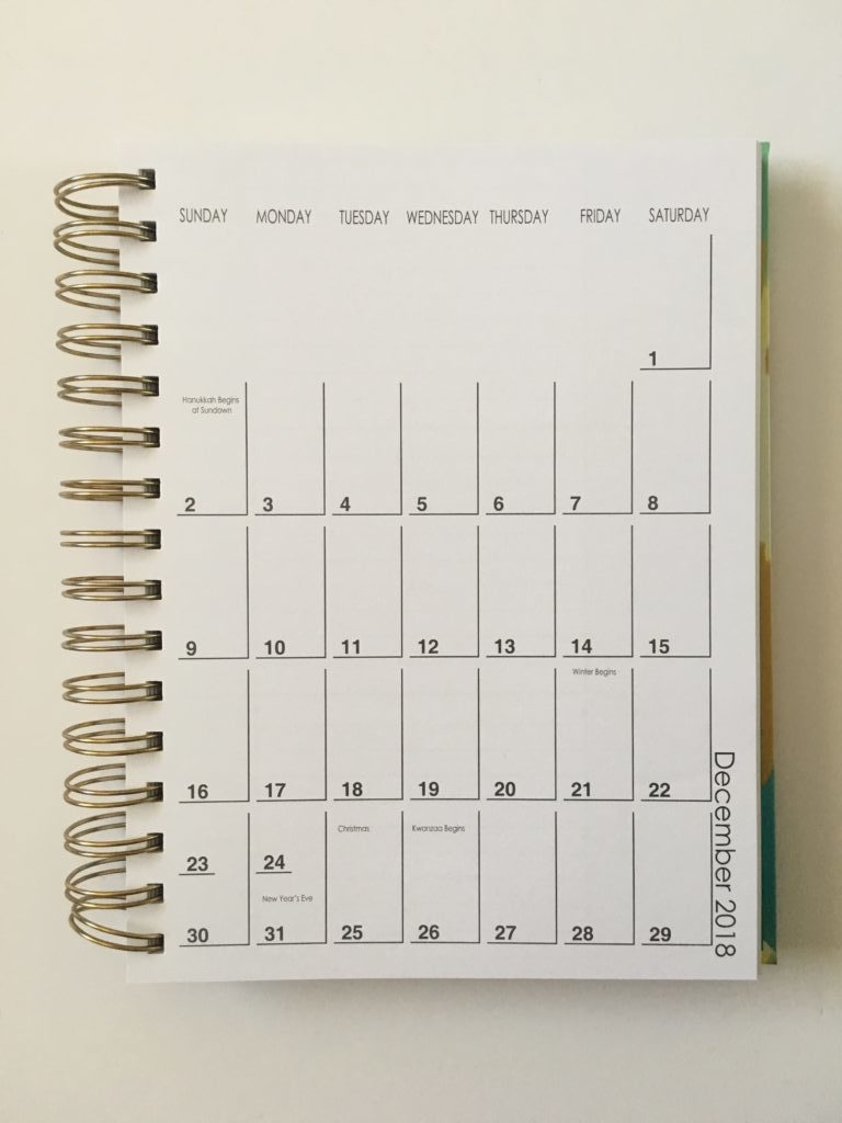 lula bijoux planner review horizontal llined monday week start pros and cons video 1 page monthly calendar
