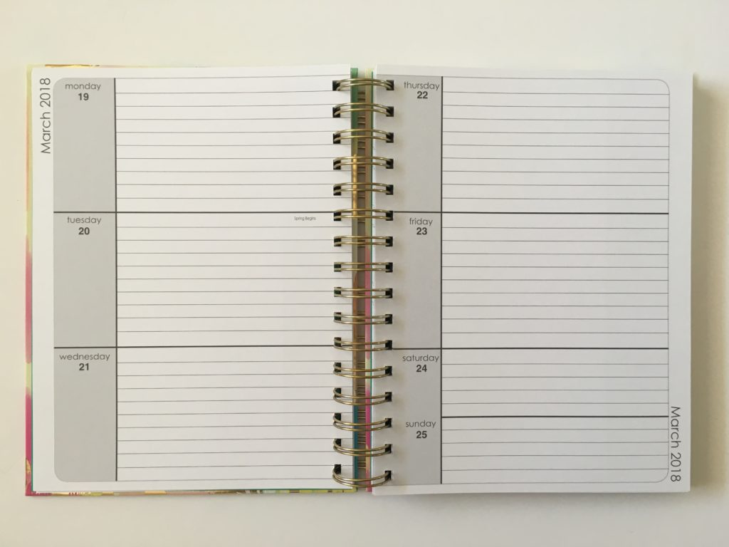 lula bijoux weekly planner review horizontal lined monday start video review pros and cons