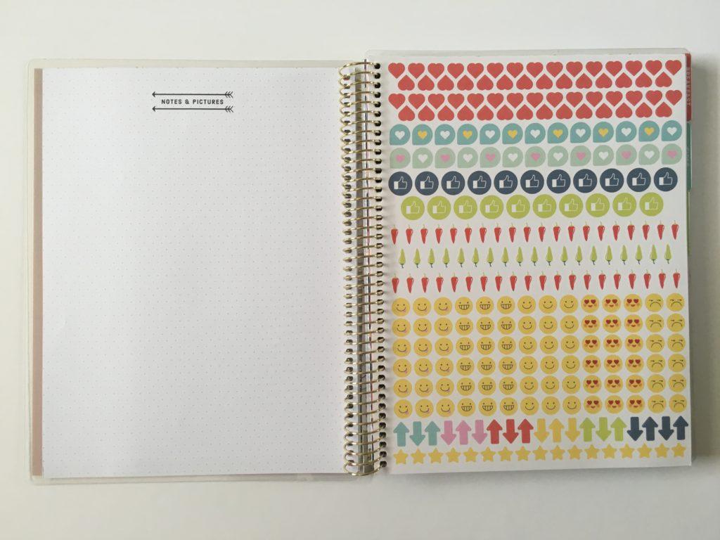 michaels recipe notebook organizer notes planner stickers emoji