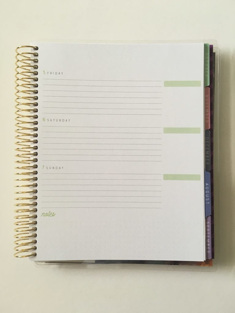 recollections horizontal weekly planner review pros and cons 2 page weekly lined