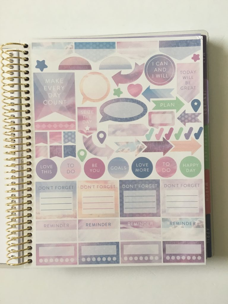 recollections horizontal weekly planner review pros and cons decorative planner stickers
