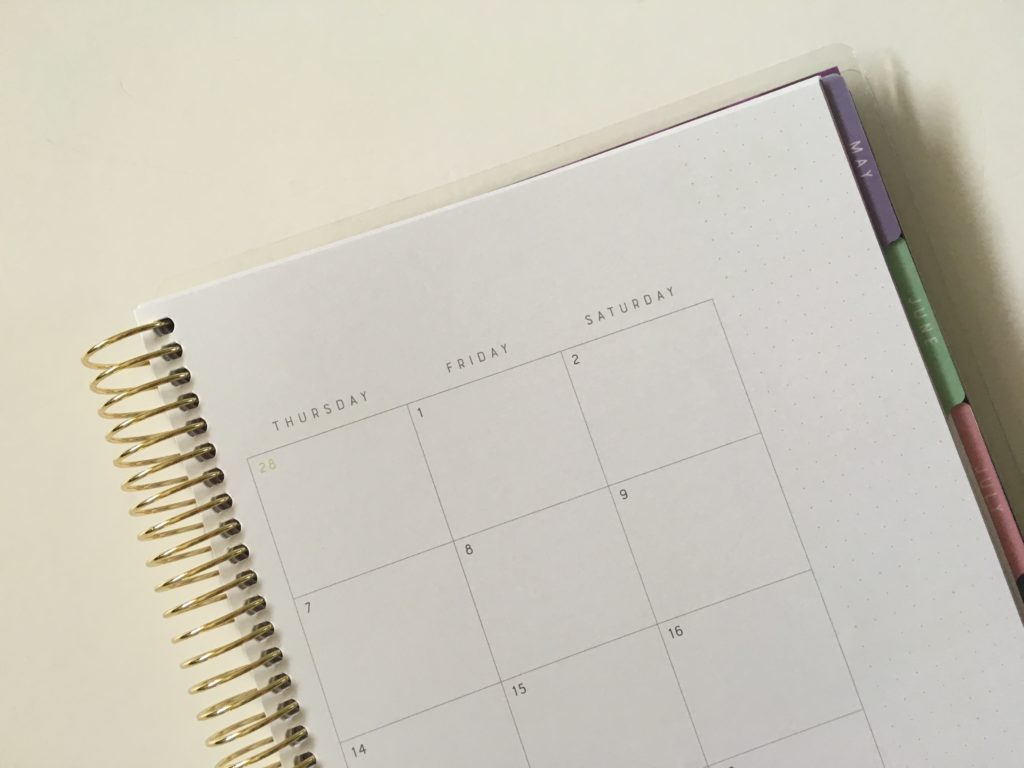 recollections horizontal weekly planner review pros and cons dot grid sidebar monthly calendar