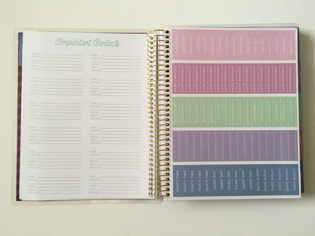 recollections horizontal weekly planner review pros and cons event planner stickers