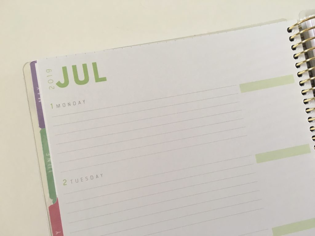 recollections horizontal weekly planner review pros and cons lined monday week start