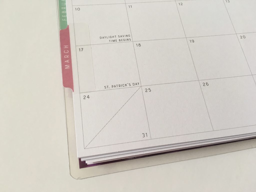 recollections horizontal weekly planner review pros and cons monthly calendar split boxes