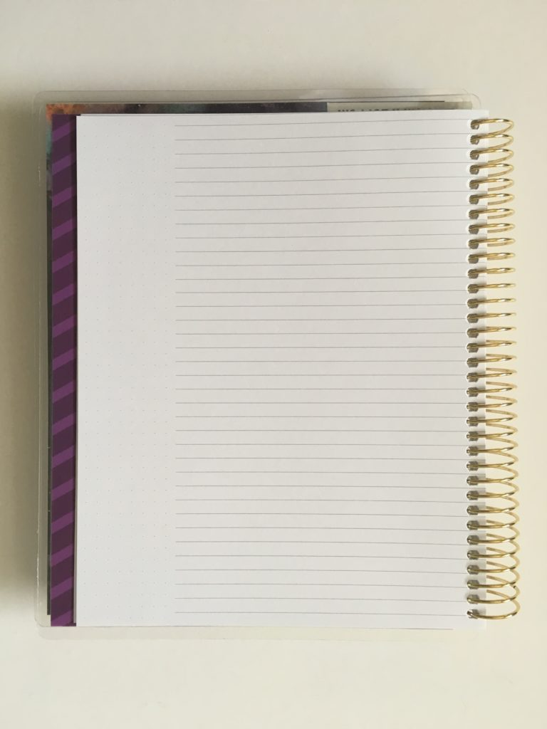 recollections horizontal weekly planner review pros and cons notes page lined dot grid