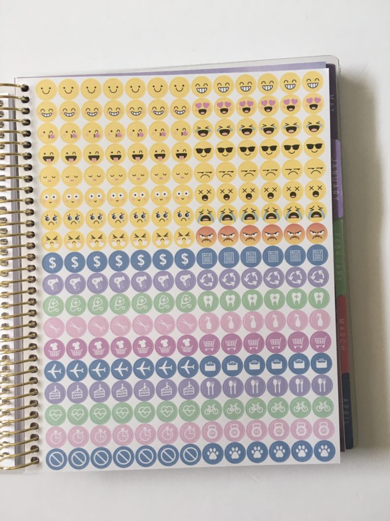 recollections horizontal weekly planner review pros and cons planner stickers functional icons