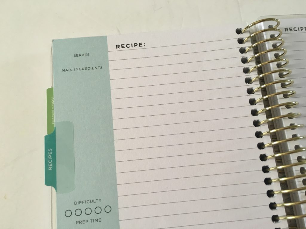 recollections mini recipe book lined meals grocery list functional pros and cons video flipthrough