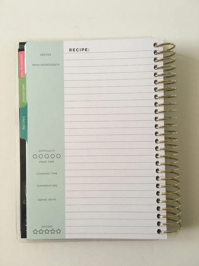 recollections mini recipe book meal plan organizer pros and cons video flipthrough