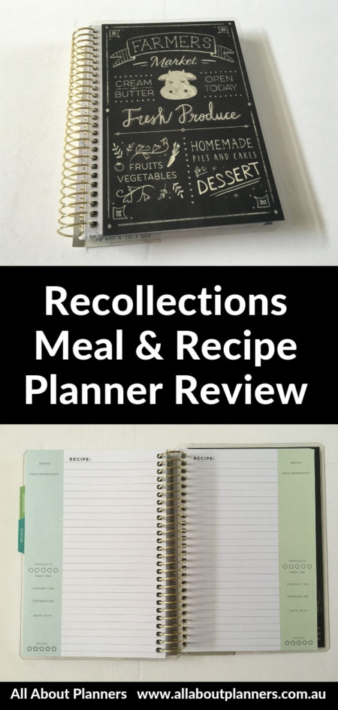 recollections recipe notebook meal planning organizer pros and cons video review