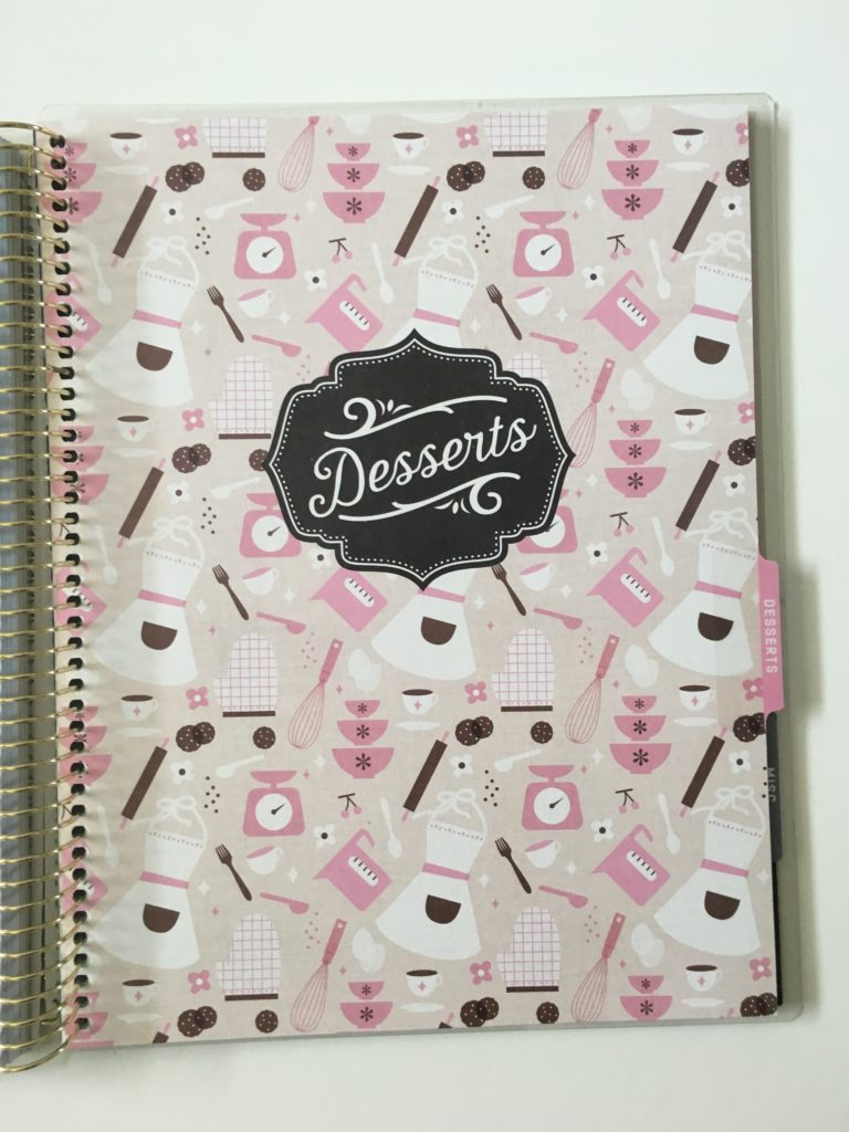 recollections recipe notebook planner review pros and cons large page size desserts meal planning misc