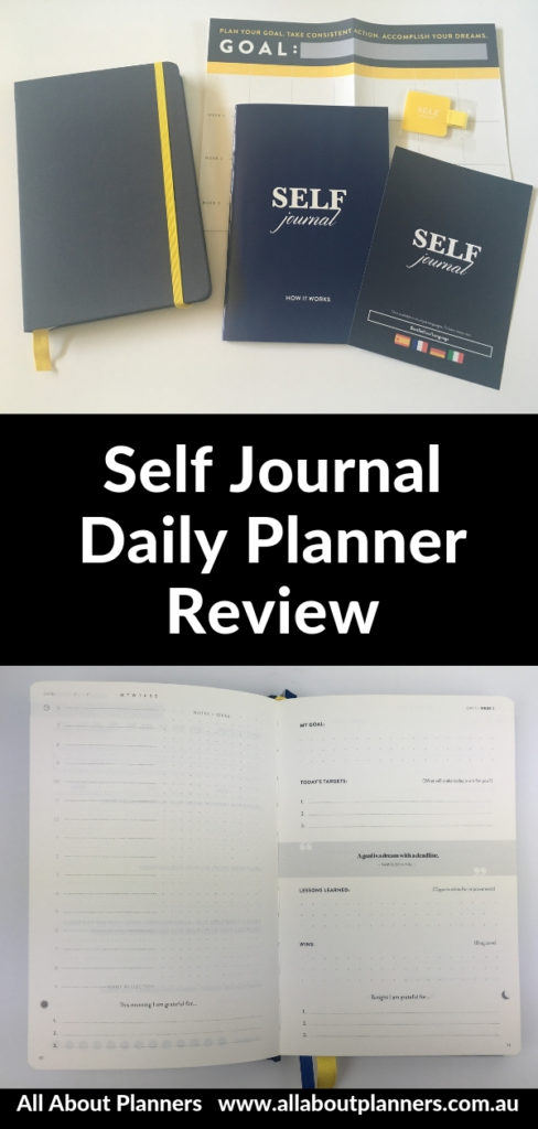self journal weekly planner review pros and cons productivity goal setting hardbound