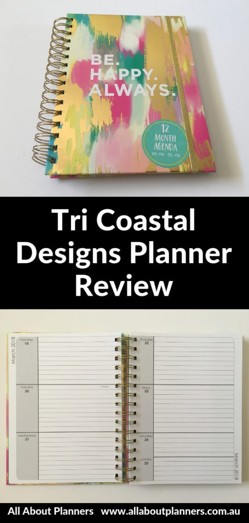 tri coastal designs planner review pros and cons video flipthrough horizontal 2 page weekly spread lined