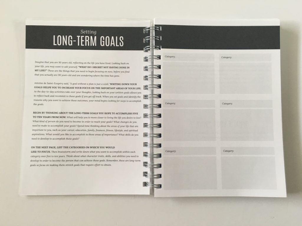 write stuff planning long term goals project worksheet