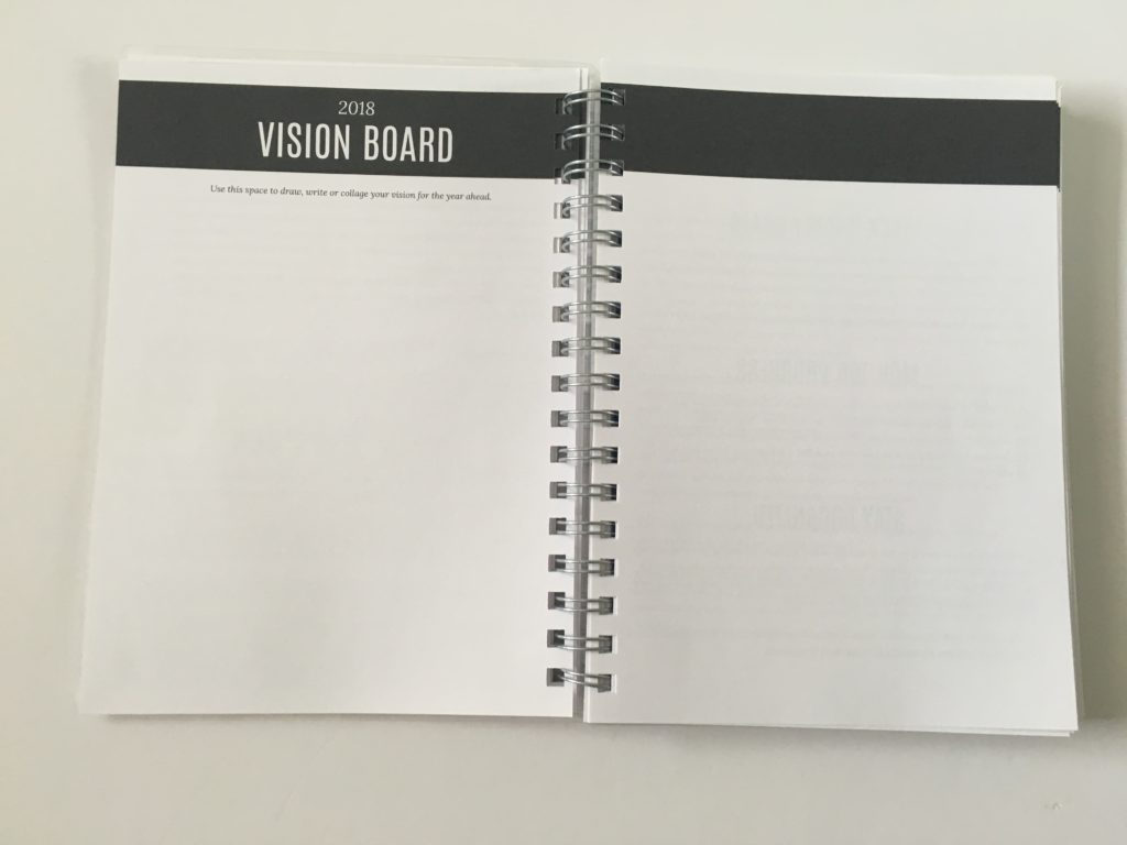 write stuff planning planner review vision board