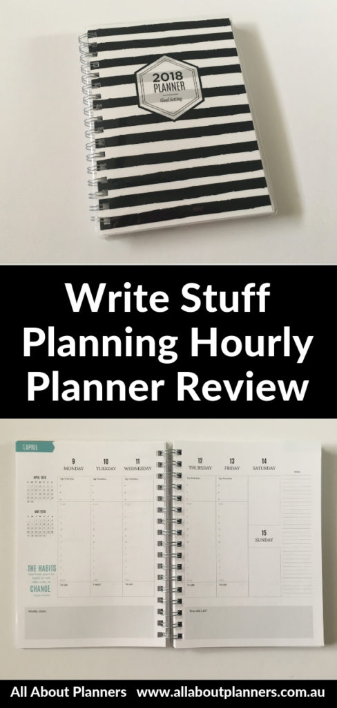 write stuff weekly planner review vertical hourly planner review pros and cons video
