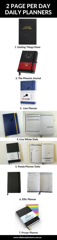 2 page per day daily planners roundup pros and cons recommendation minimlist gender neutral simple weekly hardcover stitched