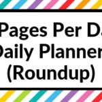 Daily Planners with 2 pages to plan each day (roundup)