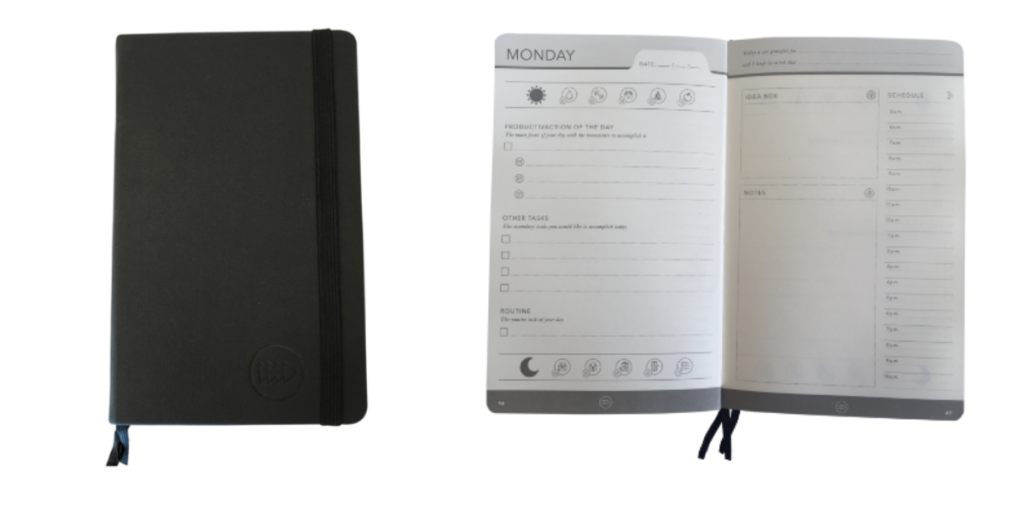 Effic Planner, daily planner, 2 page daily planner