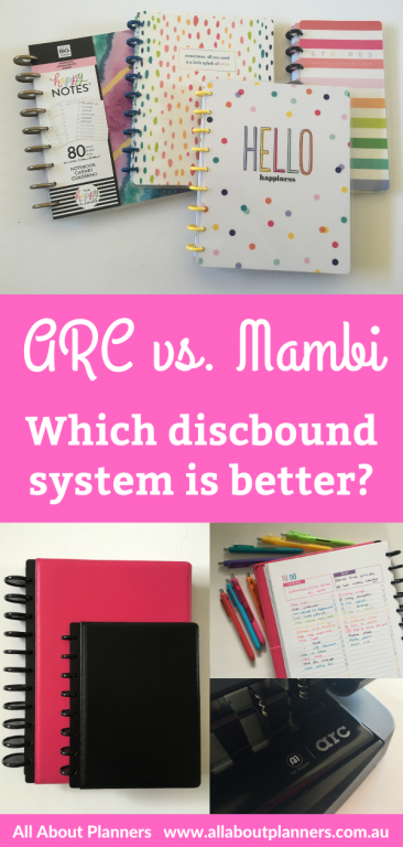 arc versus mambi which discbound system is better pros and cons paper quality pen testing punch comparison page layouts disc size
