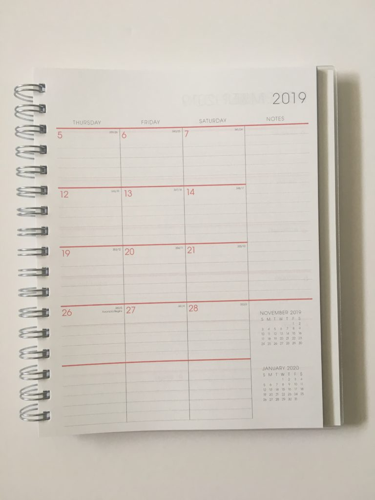 blue sky monthly calendar lined spread usa national holidays sunday week start pastel colors pen test
