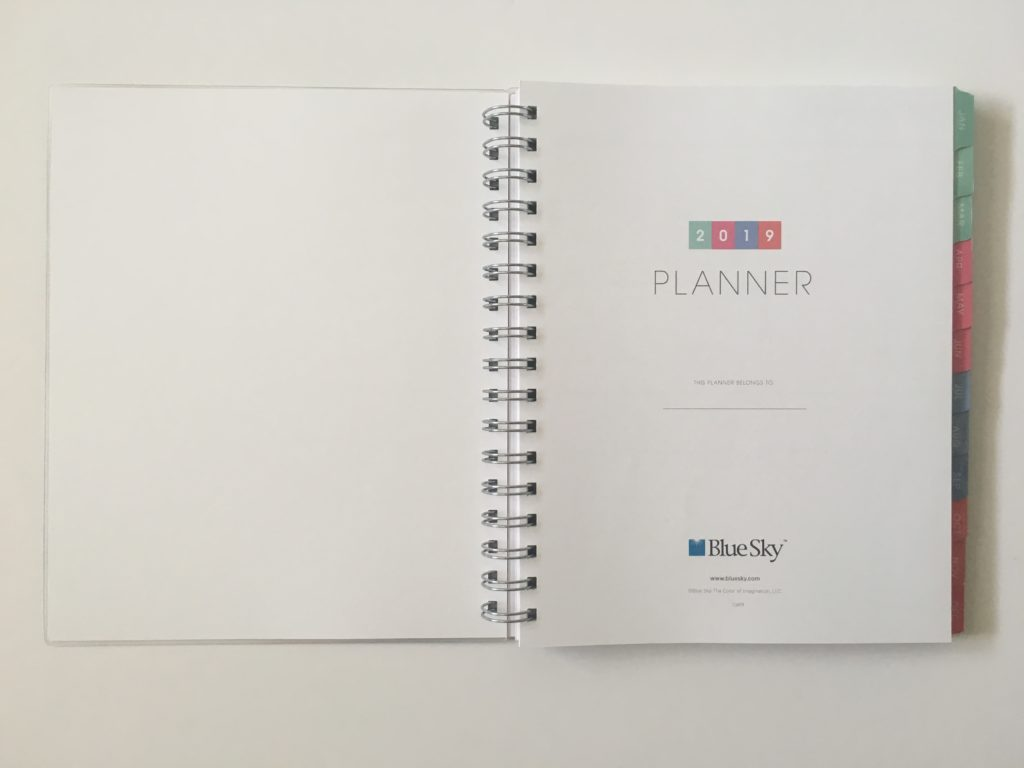 blue sky personalised planner review