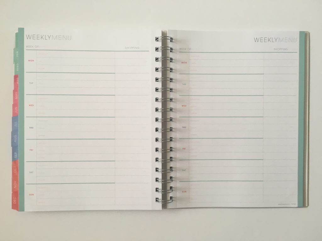 blue sky weekly planner personalised menu pros and cons paper quality pen test