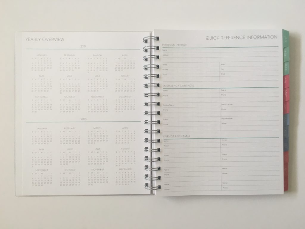 blue sky weekly planner review horizontal lined with notes checklist custom personalised usa pros and cons