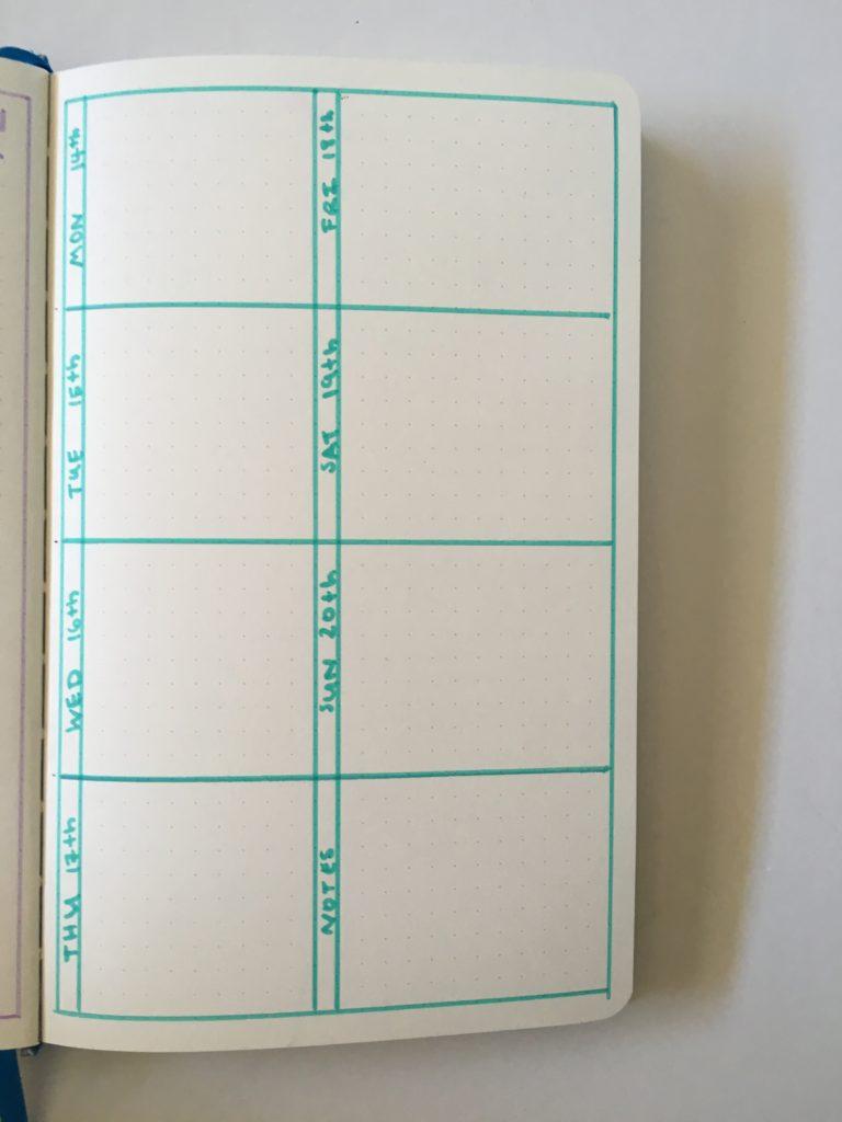 bujo bullet journal inspiration diy marker simple monday start colorful inspo