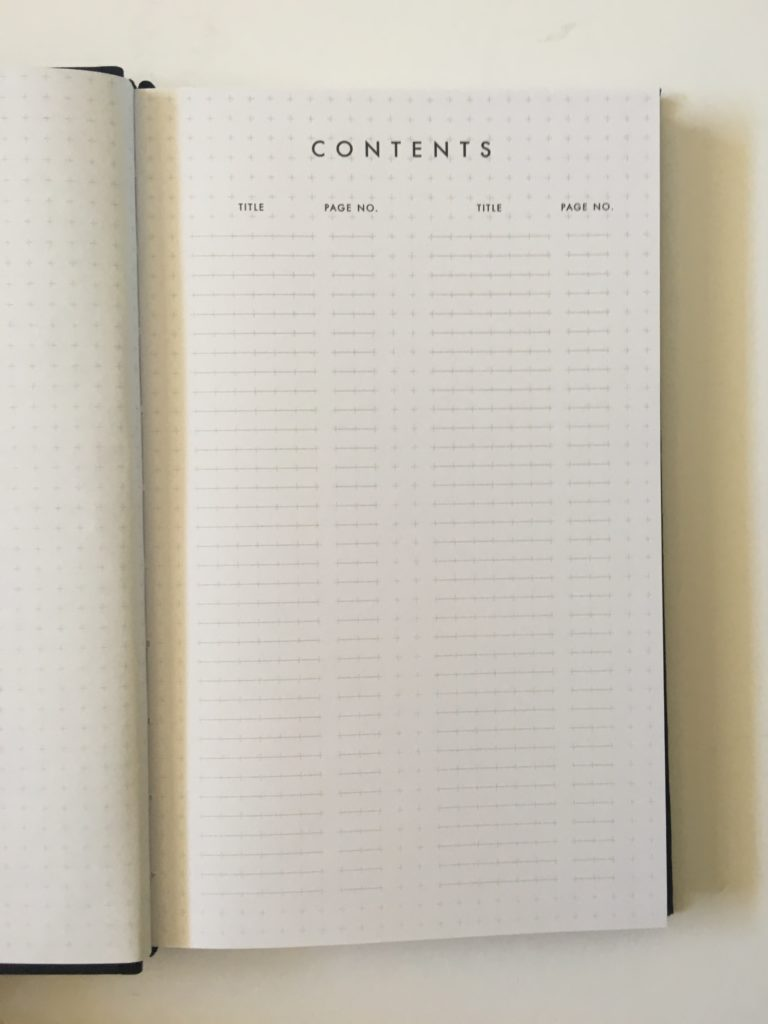 bullet journal alternative kikki k grid joural notebook graph paper contents page index pros and cons review
