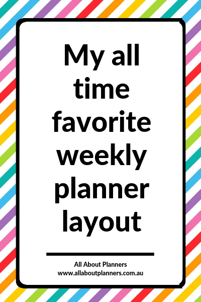 favorite weekly planner layout horizontal lined with notes weekly spread review planning tips ideas layout spread