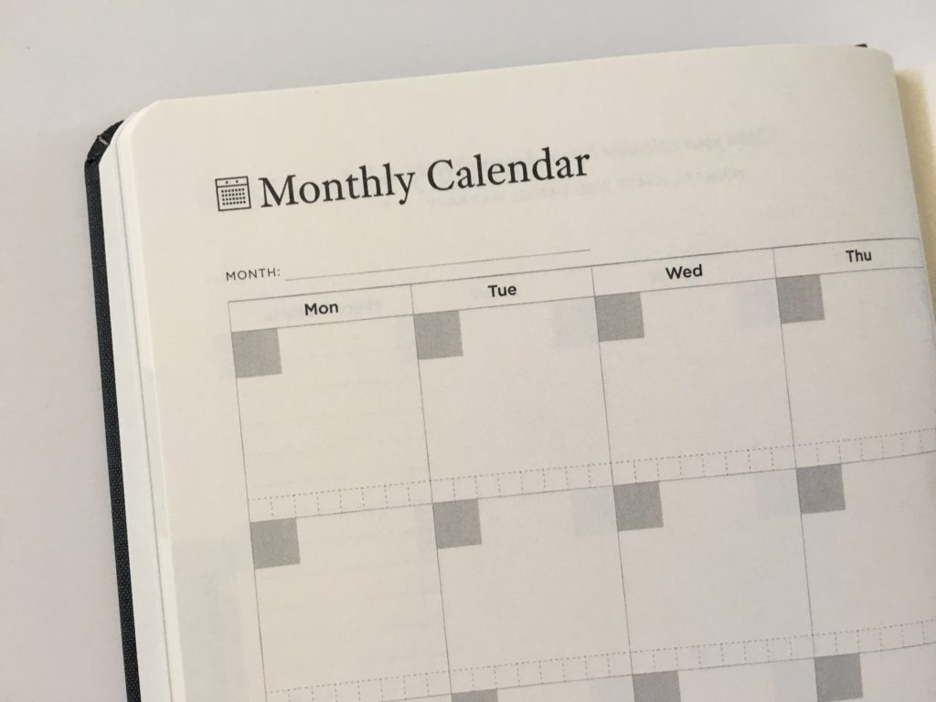 full focus planner review monthly undated monday week start