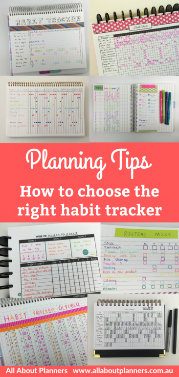 habit tracker ideas for your planner or bullet journal tips inspiration ideas planning monthly color coded stamps highlighters dot markers weekly monthly