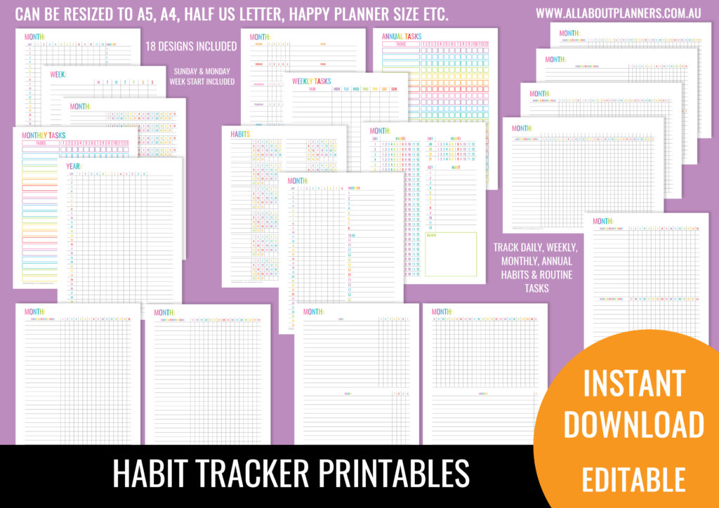 How To Choose The Right Habit Tracker For Your Planner All About Planners