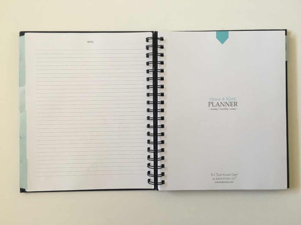 kahootie planner its that kinda day review pros and cons inside layout horizontal work and personal combined in one planner