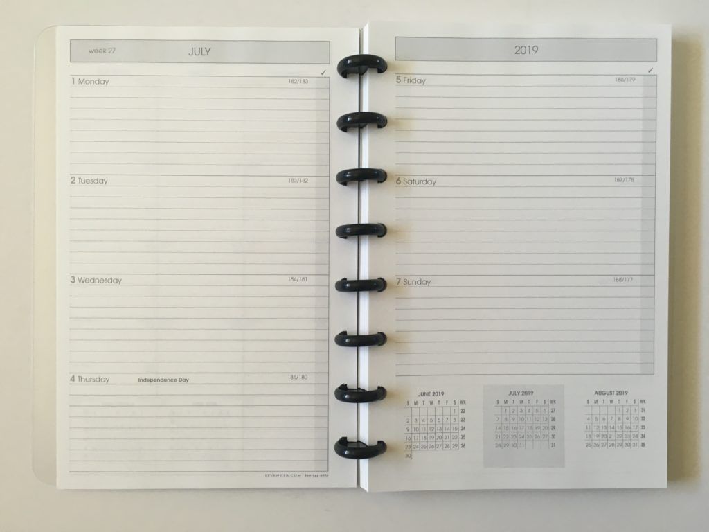 levenger circa horizontal weekly planner monday start lined discbound pros and cons