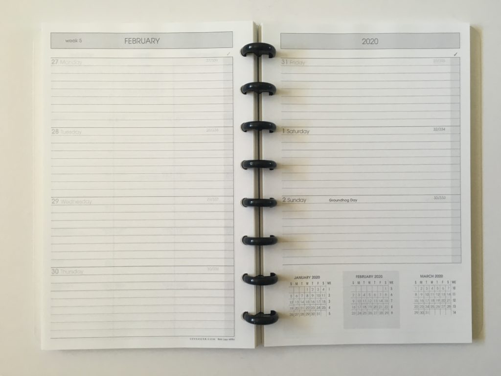levenger circa horizontal weekly planner monday start lined discbound pros and cons compact a5 size