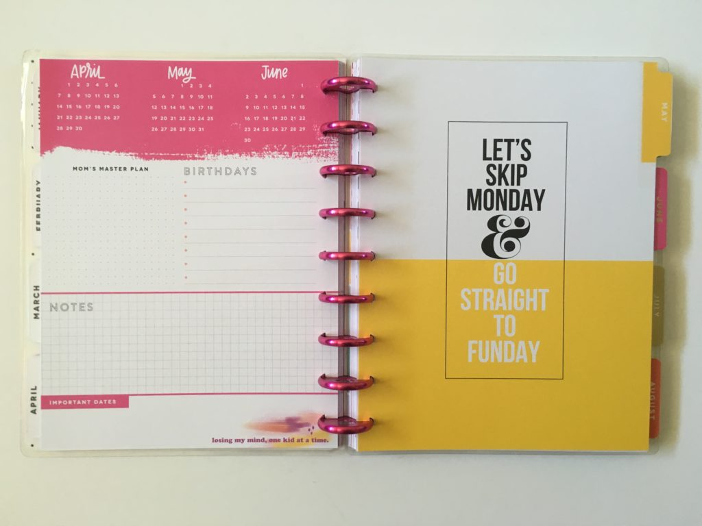 mambi happy planner review pros and cons page divider monthly planning video flipthrough tabs