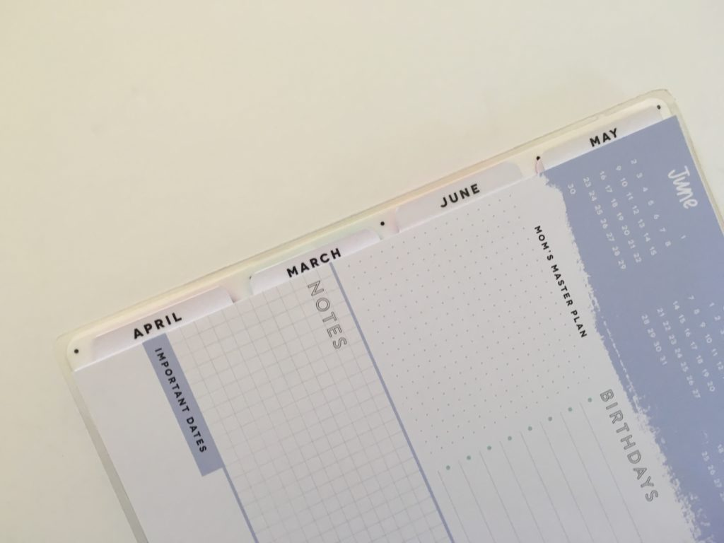 mambi happy planner supermom layout tabs honest review flipthrough monthly planning page video