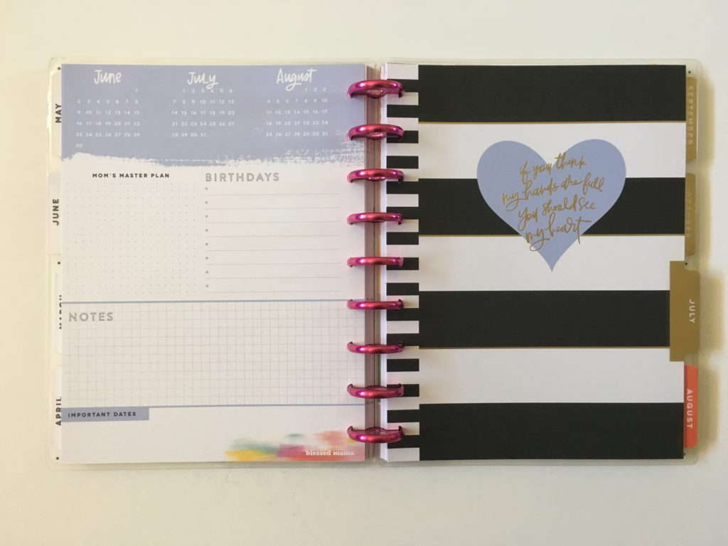 mambi supermom happy planner review dashboard layout pros and cons monday week start horizontal
