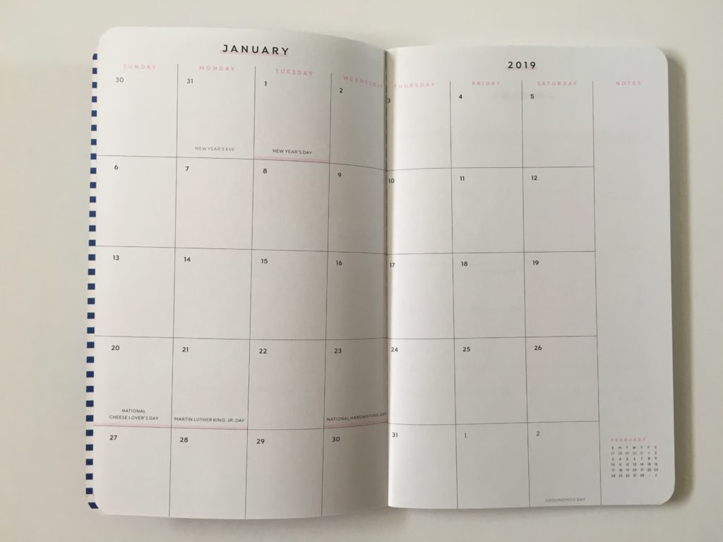may designs monthly calendar sunday start small lightweight notebook review pros and cons video flipthrough pen test paper quality