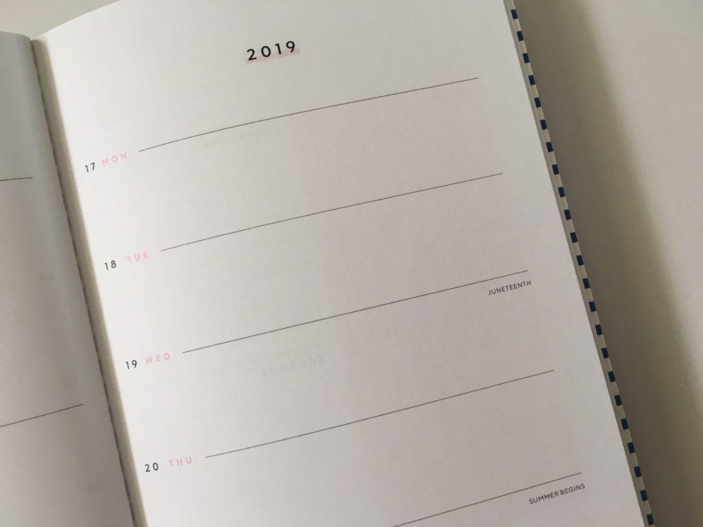 may designs weekly planner 1 page per week monday start simple cute custom personalised notebook horizontal