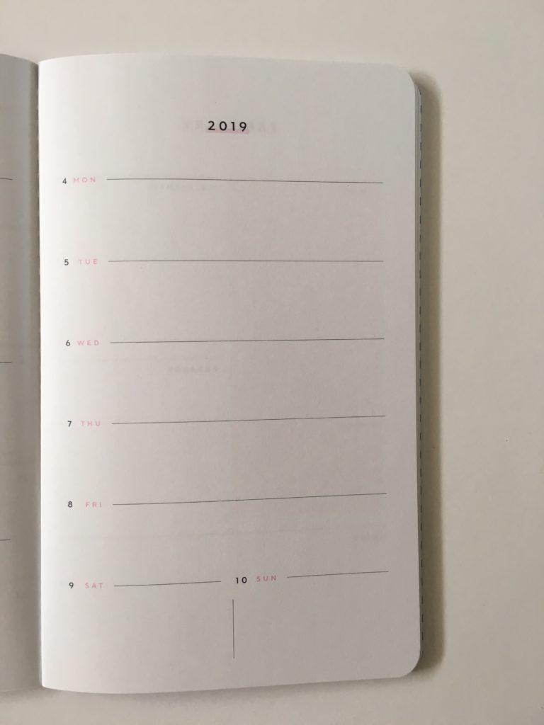 may designs weekly planner 1 page per week monday start simple cute custom personalised notebook horizontal school student lightweight