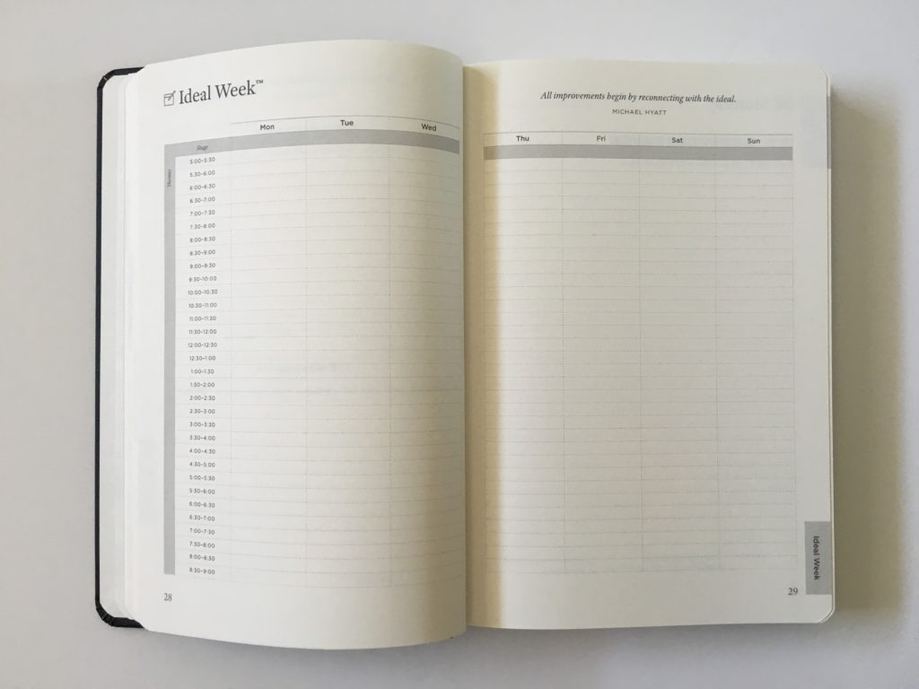 michael hyatt ideal week planner review pros and cons full focus gender neutral weekly and daily