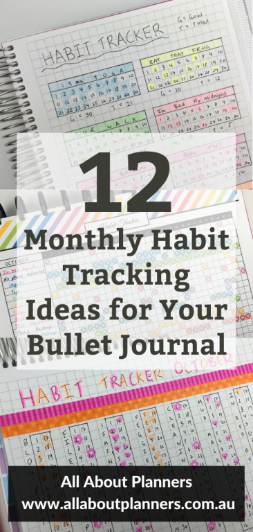 monthly habit tracking ideas for your bullet journal monthly planning spread bujo functional pages